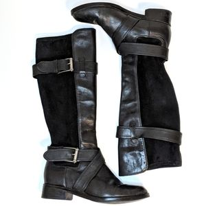 Cole Haan Whitley Nike Air Leather Riding Boots 6